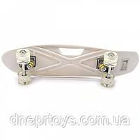 Пенни борд (скейт) с бесшумными светящимися колесами, ручка (абстракция) C-40311, фото 3