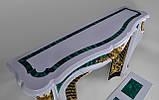 Мраморный камин Паива с инкрустациями из малахита, фото 9