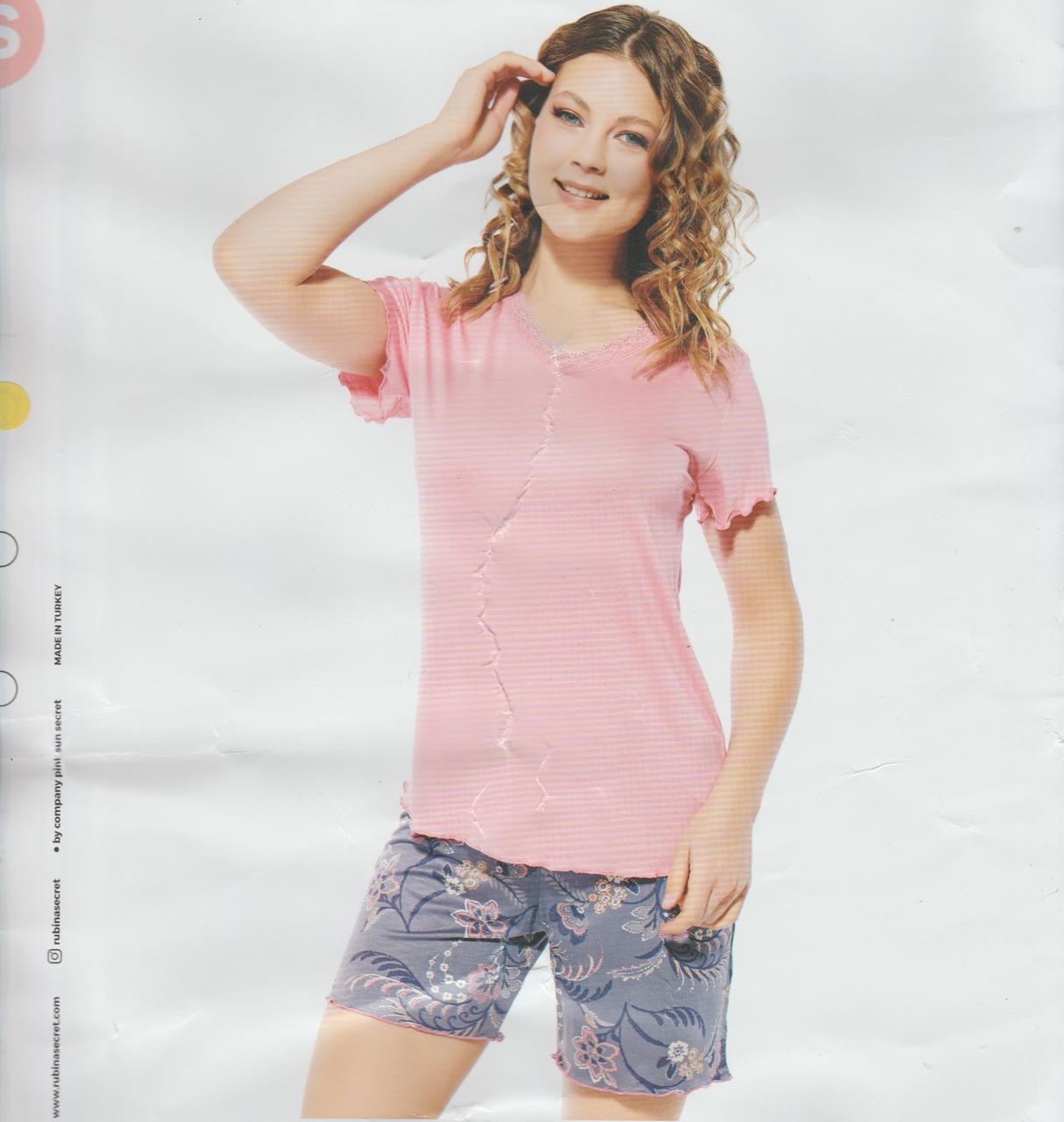 """Жіночі піжами комплекти(шортики з футболкою)""""RUBINA"""" Туреччина Art-3116"""