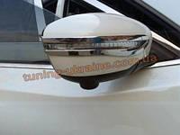 Хромированные накладки на зеркала Nissan X-Trail 2014+