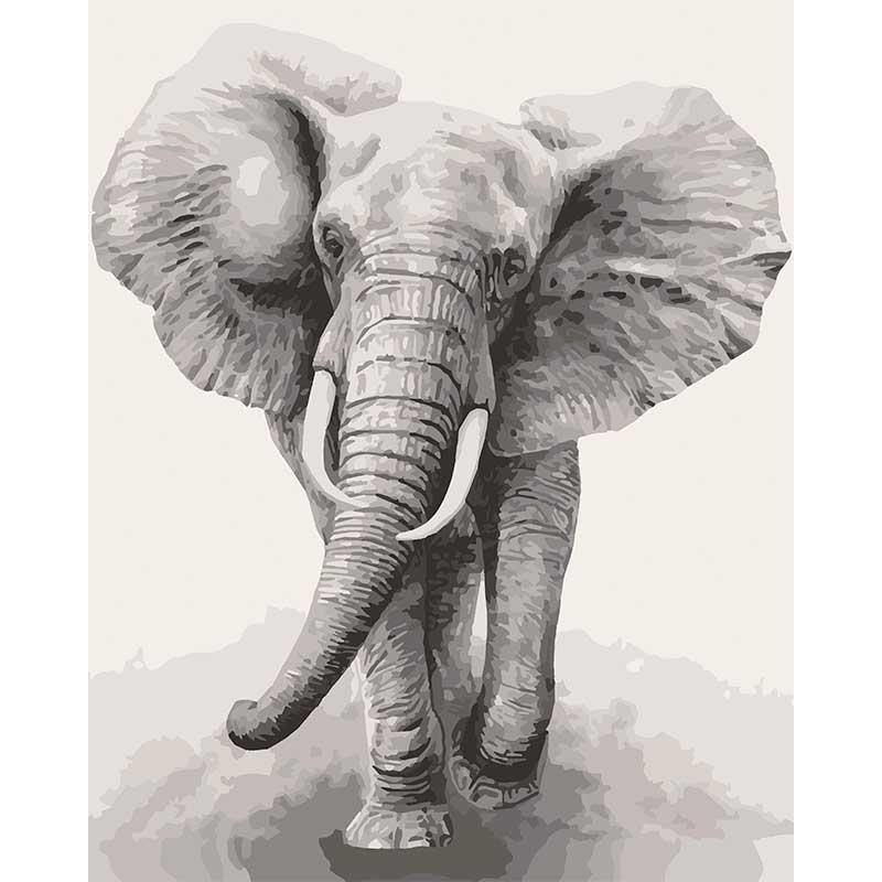 Картина за номерами Art Craft Африканський слон 40х50 см 11629-AC