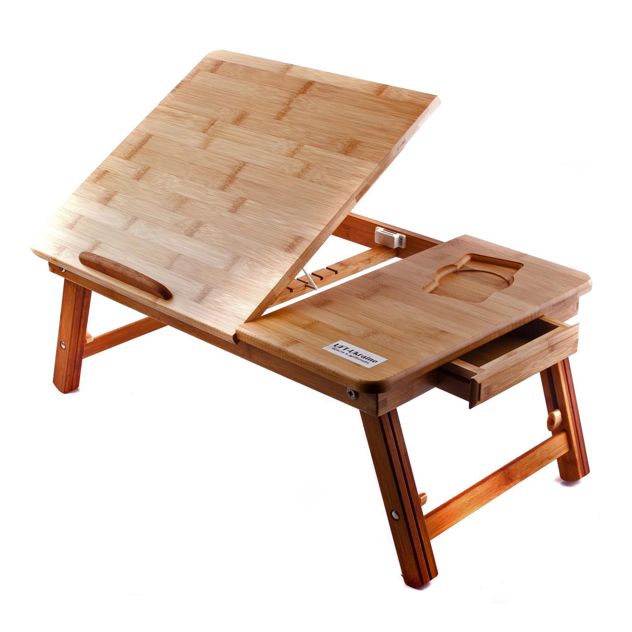 Бамбуковый столик для ноутбука UFT T27, фото 1