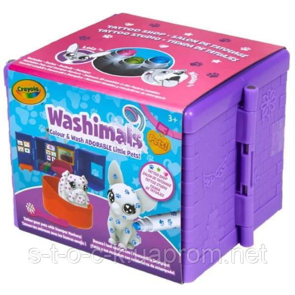 Наборы для творчества Washimals Тату-студия в чемодане  от Crayola  Shop 256748