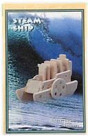 Деревянные 3Д пазлы Пароход НА209 Sea Land