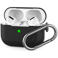 Чехол STR Silicone Case with Carabiner for Apple AirPods Pro - Black