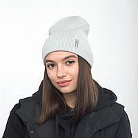 Шапка з відворотом Asti Флора світлий сірий, фото 1