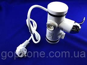 Проточний кран - водонагрівач з LED екраном і душем