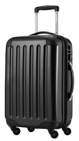 Вместительный классический малый чемодан из поликарбоната 45 л. HAUPTSTADTKOFFER alex mini black черный