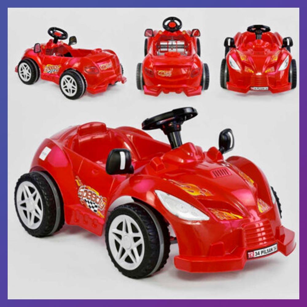 Детский педальный веломобиль машинка HERBY Pilsan 07-312 красный
