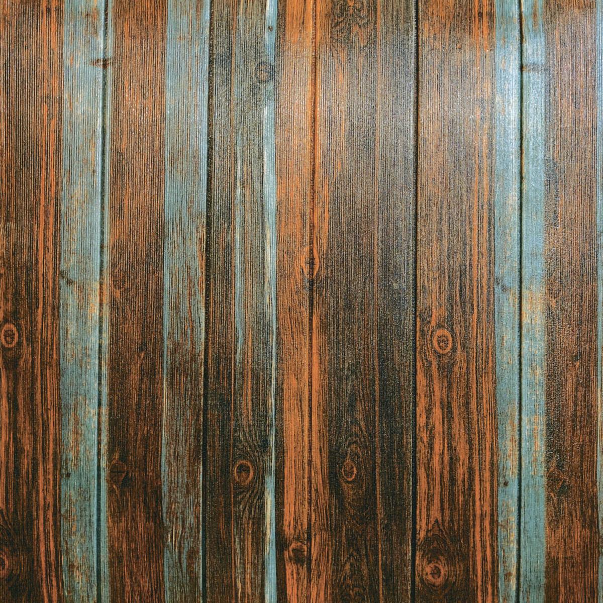 Самоклеющаяся декоративная 3D панель серо-коричневое дерево 700x700x6,5мм (086)