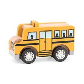 Деревянная машинка Viga Toys Школьный автобус (44514)
