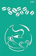 Трафарет для творчества самоклеющийся 13*20 см, №2901 Кухня