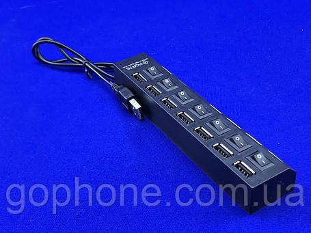 Перехідник USB хаб на 8 портів з перемикачем Hub8USB, фото 2