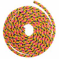 Скакалка для художньої гімнастики Lingo 04LS-98 3м кольори в асорт., Жовтий
