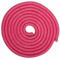 Скакалка для художественной гимнастики утяжеленная SP-Sport C-0371 3м цвета в ассорт., Розовый