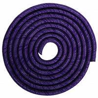Скакалка для художественной гимнастики утяжеленная SP-Sport C-0371 3м цвета в ассорт., Фиолетовый