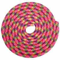 Скакалка для художньої гімнастики утяжеленная 3м кольори в асорт., Рожевий-фіолетовий