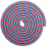 Скакалка для художественной гимнастики утяжеленная 3м цвета в ассорт., Голубой-розовый