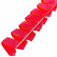 Лента для художественной гимнастики с палочкой Lingo C-3249 3,3м цвета в ассорт., Красный