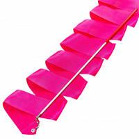Лента для художественной гимнастики с палочкой Lingo C-3249 3,3м цвета в ассорт., Малиновый