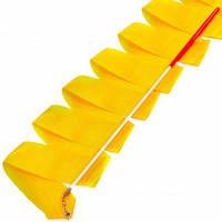 Лента для художественной гимнастики с палочкой Lingo C-3249 3,3м цвета в ассорт., Оранжевый