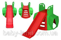 """Гірка спуск з тунелем дитяча пластикова велика для будинку і вулиці """"Doloni"""" М 01470/11"""