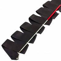 Лента для художественной гимнастики с палочкой Lingo C-3249 3,3м цвета в ассорт., Черный