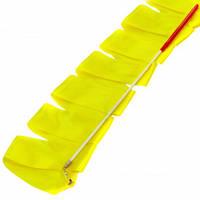 Лента для художественной гимнастики с палочкой Lingo C-3249 3,3м цвета в ассорт., Желтый