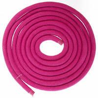 Скакалка для художньої гімнастики Lingo C-5515 3м кольори в асорт., Малиновий