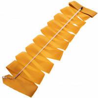 Лента для художественной гимнастики с палочкой Lingo C-5516 6м цвета в ассорт., Золотой