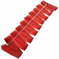 Лента для художественной гимнастики с палочкой Lingo C-5516 6м цвета в ассорт., Красный