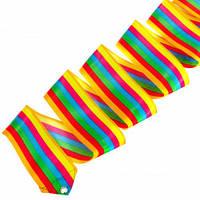 Лента для художественной гимнастики Lingo C-5517 6м цвета в ассорт., Разноцветный