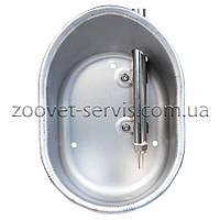 Поїлка чашкова для поросят на відгодівлі з нержавіючої сталі овальна (Farma)