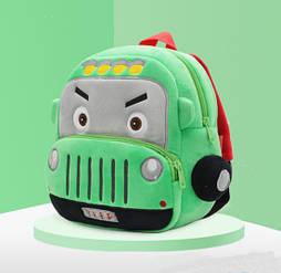 Детский легкий плюшевый рюкзак 2-4 года для мальчиков в садик