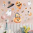 Готові інтер'єрні наклейки хеллоуїн Halloween декор на стіну Набір Череп і кістки Л 1100х1000мм, фото 4