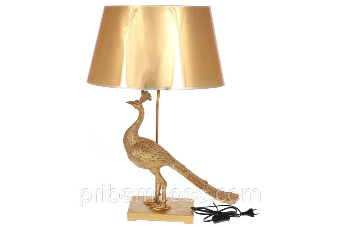Лампа настільна Золотий Павич 62cm, колір - золото