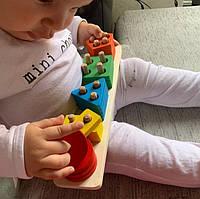 """Детская развивающая игрушка из дерева """"Геометрические фигуры"""", СС2231-00"""
