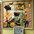 Прикраса на хеллоуїн наклейки хеллоуїн 2021 Halloween декор на стіну Гарбузова жах ХЛ 1100х1500мм, фото 2