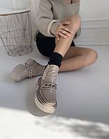 Бежеві шкіряні черевики розмір 36, фото 1
