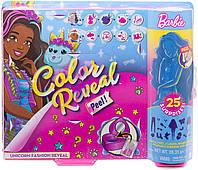 Набор кукол Barbie Color Reveal Peel Unicorn Fashion Reveal с 25 сюрпризами, фото 1