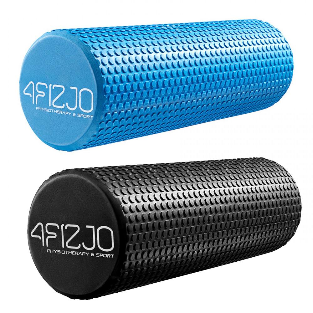 Міофасциальний масажний ролик для тіла Валик масажер для спини ніг Ролер для йоги фітнесу 4FIZJO 45x15 см