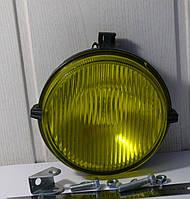 Фара противотуманная МТЗ круглая, с галогеновой лампочкой (жёлтое стекло) (пр-во Украина), фото 1