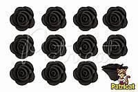 Цветы розы Черные из фоамирана (латекса) 2.5 см 10 шт/уп
