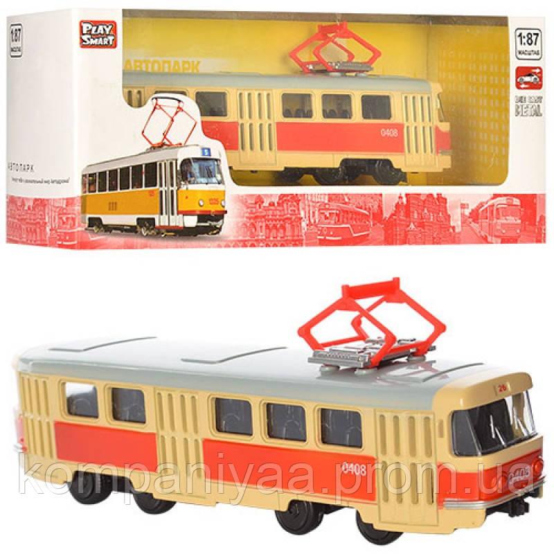 Іграшкова модель Трамвай PLAY SMART 6411 інерційний (6411A)