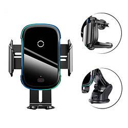 Автотримач для телефону з бездротовою зарядкою на панель Baseus Electric Light Тримач телефону в авто