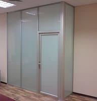 Офисные перегородки с матовым стеклом