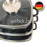Набір посуду з гранітним антипригарним покриттям Higher Kitchen HK-312, Набір каструль для дому, ЧОРНИЙ, фото 9
