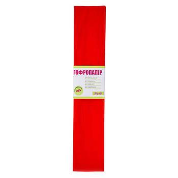 Бумага гофрированная 1Вересня красная 110% (50см*200см) набор 10 шт (701536)