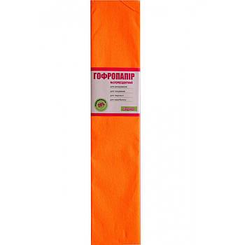 Бумага гофрированная 1Вересня флуоресц. оранжевая 20% (50см*200см) (705398)