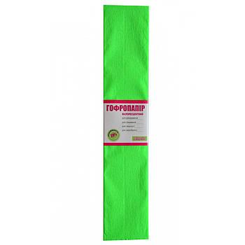 Бумага гофрированная 1Вересня флуоресц. салатовая 20% (50см*200см) (705402)